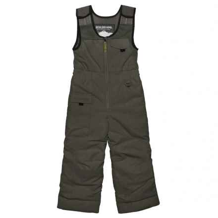 Boulder Gear Nestor Snow Bibs - Waterproof, Insulated (For Little Boys) in Raven Gray - Closeouts