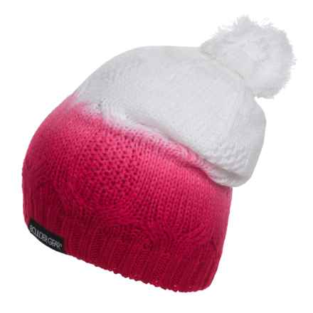 Boulder Gear Ombre Knit Hat (For Big Girls) in Bright Rose - Closeouts
