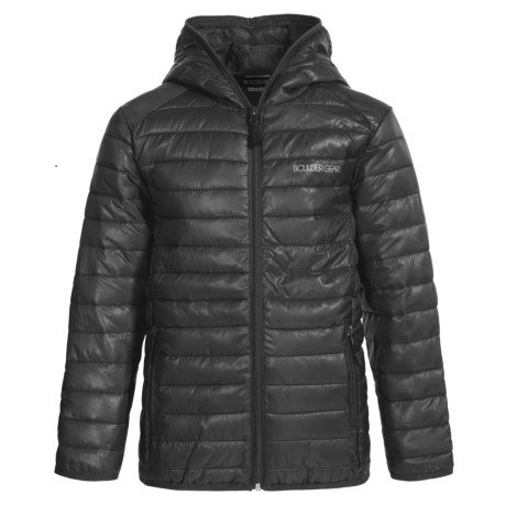 Boulder Gear Packable D-Lite Jacket - Insulated (For Big Boys) in Black