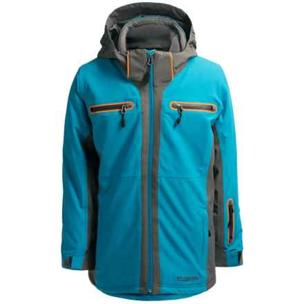 Boulder Gear Passage Tech Ski Jacket - Waterproof, Insulated (For Little and Big Boys) in Blue Riviera/Gray Shadow - Closeouts