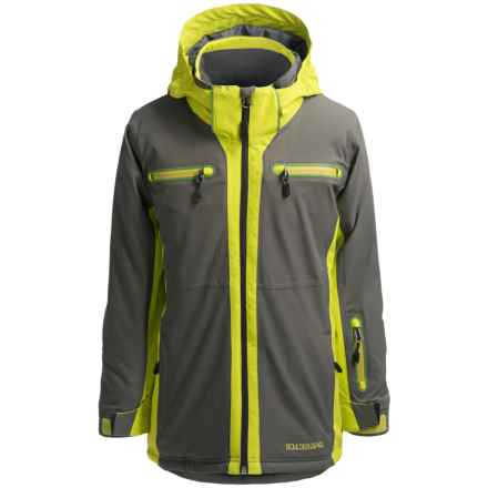 Boulder Gear Passage Tech Ski Jacket - Waterproof, Insulated (For Little and Big Boys) in Gray Shadow/Avocado - Closeouts