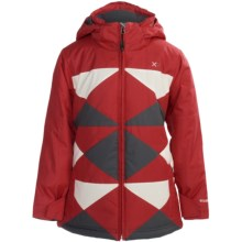 Boulder Gear Peacework Jacket - Insulated (For Girls) in Lipstick Red/Cream/Grey Shadow - Closeouts