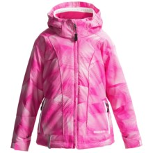 Boulder Gear Piper Ski Jacket - Waterproof, Insulated (For Girls) in Pink Swirl Print/White - Closeouts