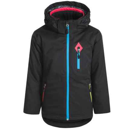 Boulder Gear Quirky Tech Jacket - Waterproof, Insulated (For Big Girls) in Black - Closeouts