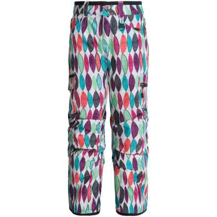 Boulder Gear Ravish Ski Pants - Insulated (For Little and Big Girls) in Leaf Print - Closeouts