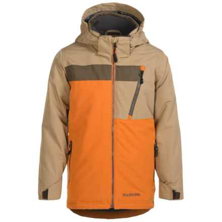 Boulder Gear Ridgeline Ski Jacket - Waterproof, Insulated (For Little and Big Boys) in Burnt Orange/Tan/Canteen - Closeouts
