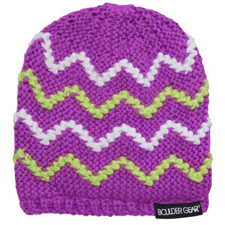 96c1c2e0c15 Boulder Gear Ripple Beanie (For Little Girls) in Purple Cactus - Closeouts
