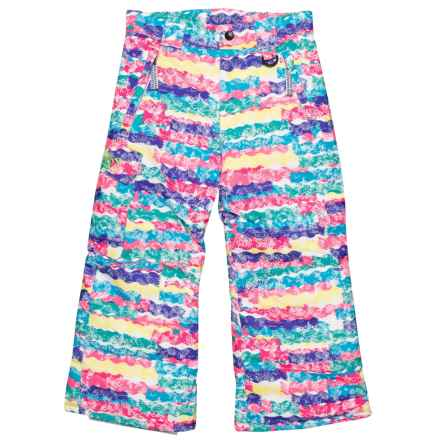 Boulder Gear Rock Solid Ski Pants - Waterproof, Insulated (For Little Girls) in Squiggle Print - Closeouts