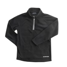 Boulder Gear Ruby Pullover Shirt - Zip Neck, Microfleece, Long Sleeve (For Girls) in Black - Closeouts