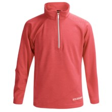 Boulder Gear Ruby Pullover Shirt - Zip Neck, Microfleece, Long Sleeve (For Girls) in Coral Heather - Closeouts