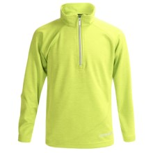Boulder Gear Ruby Pullover Shirt - Zip Neck, Microfleece, Long Sleeve (For Girls) in Lime Heather - Closeouts