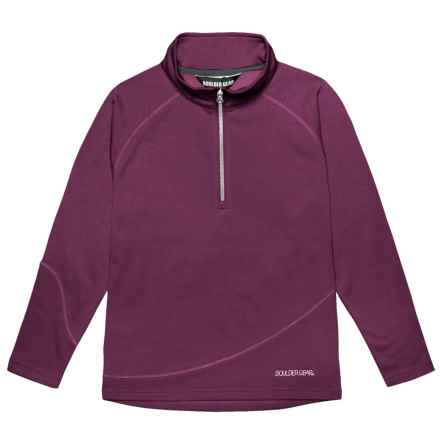 Boulder Gear Ruby Pullover Shirt - Zip Neck, Microfleece, Long Sleeve (For Girls) in Maroon - Closeouts