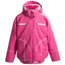 Boulder Gear Scout Ski Jacket - Waterproof, Insulated (For Girls) in Pink Raspberry/Pink Swirl Print - Closeouts