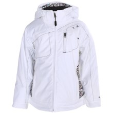 Boulder Gear Shaper Jacket - Insulated (For Girls) in White/Shatter Print - Closeouts