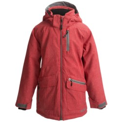 Boulder Gear Solitary Jacket - Insulated (For Boys) in Red Blast/Granite