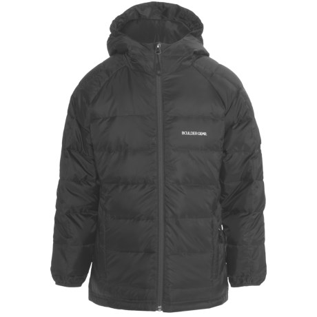 Boulder Gear Summit Down Jacket - 600 Fill Power (For Girls) in Black
