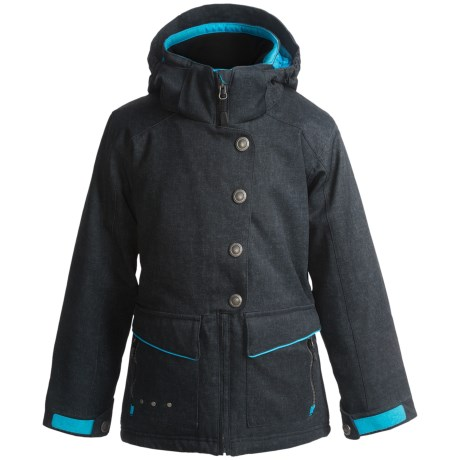 Boulder Gear Trance Ski Jacket - Insulated (For Girls) in Green Plaid/White
