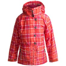 Boulder Gear Trance Ski Jacket - Insulated (For Girls) in Mango Plaid/White - Closeouts