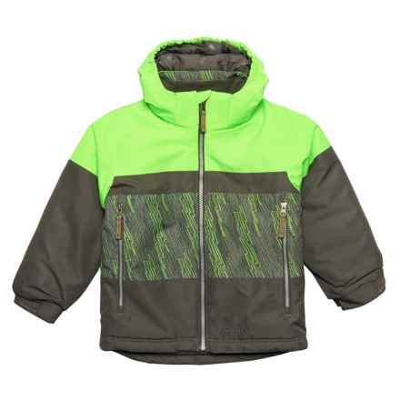 Boulder Gear Trifecta Ski Jacket - Waterproof, Insulated (For Little Boys) in Gecko Static Print - Closeouts