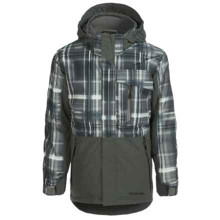 Boulder Gear Velocity Snowboard Jacket - Waterproof, Insulated (For Little and Big Boys) in Gray Shadow Plaid/Gray - Closeouts