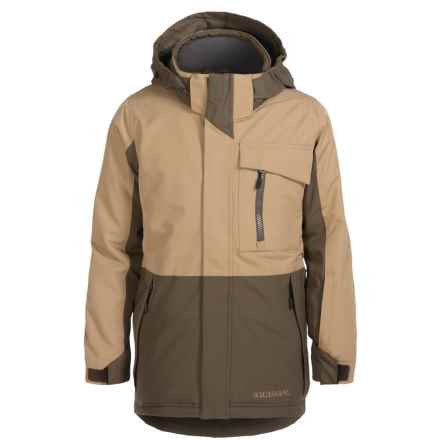 Boulder Gear Velocity Snowboard Jacket - Waterproof, Insulated (For Little and Big Boys) in Tan Earth/Canteen - Closeouts