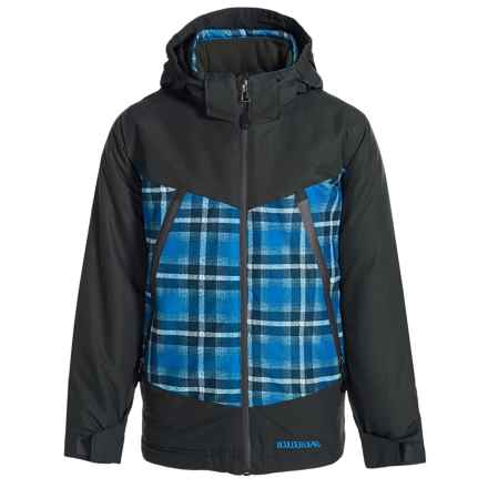 Boulder Gear Venturous Jacket - Waterproof, Insulated (For Big Boys) in Blue Plaid - Closeouts
