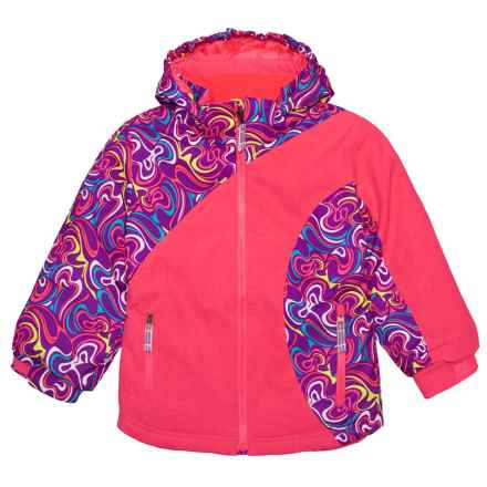 Boulder Gear Whimsical Ski Jacket - Waterproof, Insulated (For Little Girls) in Pink Diva - Closeouts