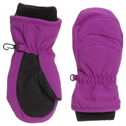 Boulder Gear Whirlwind Mittens - Waterproof, Insulated (For Little Kids) in Purple Cactus - Closeouts