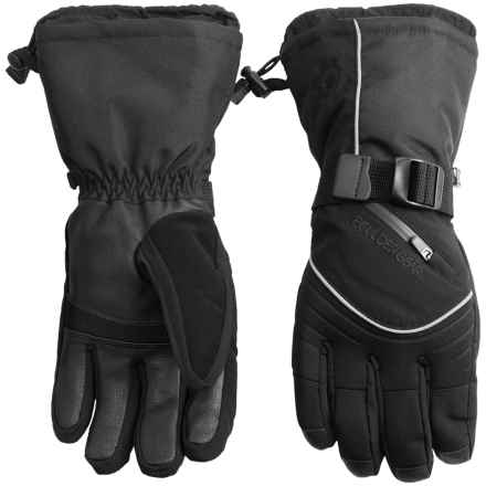 Boulder Gear Whiteout Gloves (For Men) in Black - Closeouts