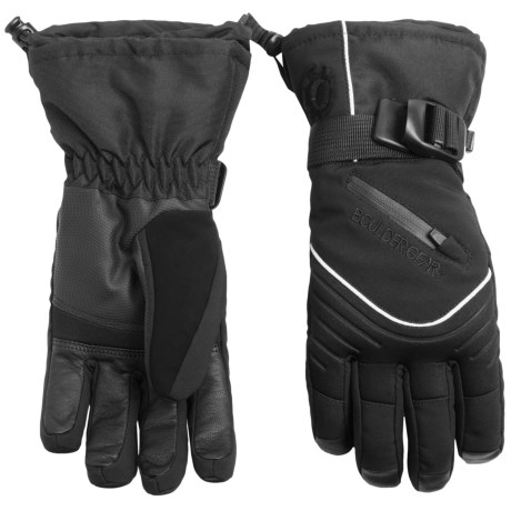 Boulder Gear Whiteout Gloves - Waterproof, Insulated (For Women) in Black