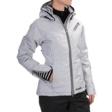 Boulder Gear Winters Ski Jacket - Waterproof, Insulated (For Women) in White-Black Texture - Closeouts