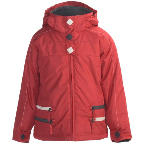 Boulder Gear Zippity Jacket - Insulated (For Girls) in Lipstick Red/Grey Shadow/Cream