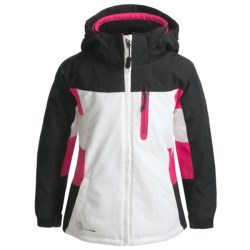 Boulder Mystical Jacket - Insulated (For Girls) in Ice Blue/Mystic Green/White
