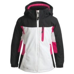 Boulder Mystical Jacket - Insulated (For Girls) in White/Black/Pink Shock
