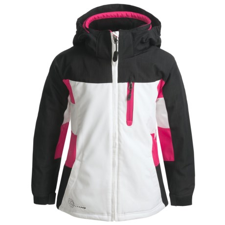 Boulder Mystical Jacket - Insulated (For Girls) in White/Black/Pink Shock