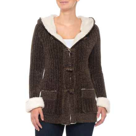 5071e6769d921 Boundless North Alpine Toggle Chenille Sweater - Long Sleeve (For Women) in  Deep Olive