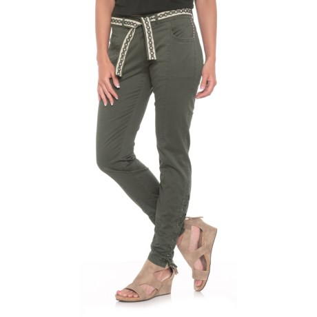 Boundless North Daisy Mama Woven Joggers (For Women) in Gull Gray