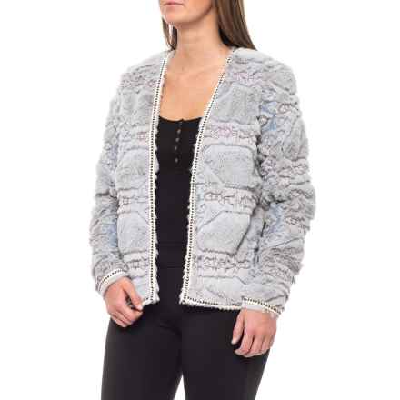 8c7267b3be2 Boundless North Embossed Fur Jacket - Open Front (For Women) in New Grey -
