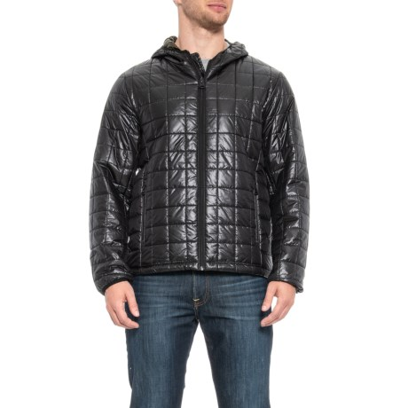 Image of Box-Quilted Hooded Puffer Jacket - Insulated (For Men)