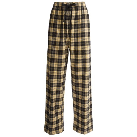 Boxercraft Flannel Lounge Pants (For Women) in Yellow/Black Plaid