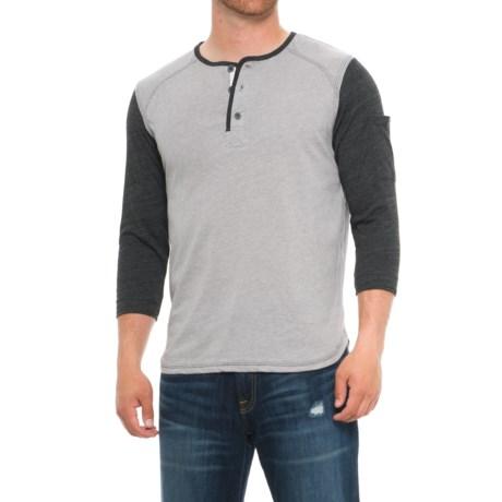 Boxercraft Home Run Henley Shirt - 3/4 Sleeve (For Men) in Charcoal