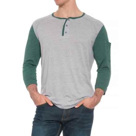 Boxercraft Home Run Henley Shirt - 3/4 Sleeve (For Men) in Hunter - Overstock