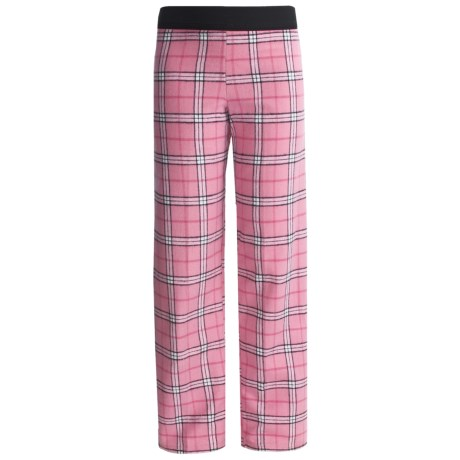 Boxercraft Pajama Bottoms - Flannel (For Girls) in Pink/Black Plaid
