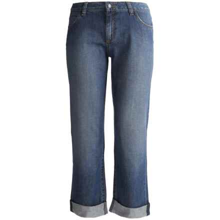 Boyfriend Fit Ankle Jeans - Stretch Cotton (For Women) in Medium Wash - 2nds
