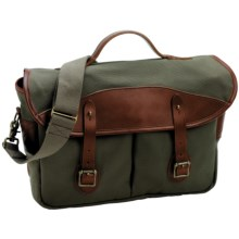Boyt Harness Estancia Shoulder Bag/Briefcase - Waxed Canvas in Olive - Closeouts