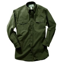 Boyt Harness Safari Shirt - Cotton Poplin, Long Roll-Up Sleeve (For Men) in Sage - Closeouts