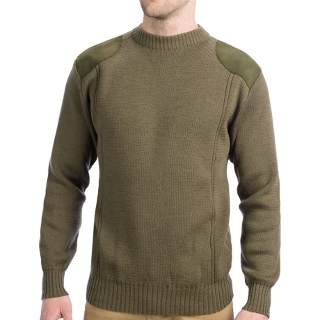 Boyt Harness Shooting Sweater - Merino Wool, Crew Neck (For Men) in Sage