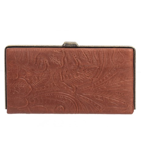 Image of Bozeman Tooled Leather Frame Wallet (For Women)
