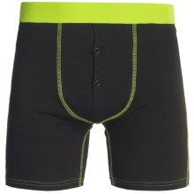 BR4SS Fitted Boxers - Stretch Cotton (For Men) in Black/Volt - Closeouts