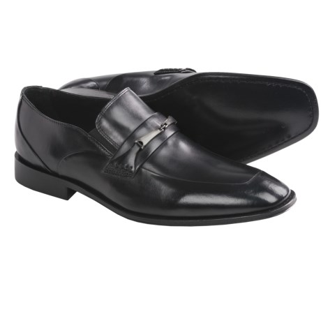 Brass Boot Montebello Shoes - Slip-Ons, Leather (For Men) in Black